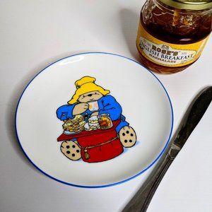 Vintage 90s Paddington Bear plate